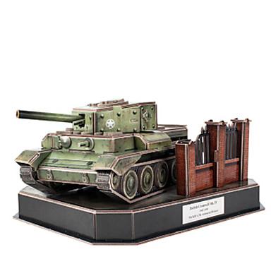 voordelige 3D-puzzels-3D-puzzels Legpuzzel Modelbouwsets Tank DHZ Papier EPS Heren Jongens Speeltjes Geschenk