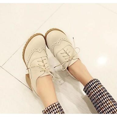 Damen Schuhe PU Sommer Komfort High Heels Für Normal Beige Rosa Mandelfarben