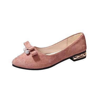 Női Kasmír Ősz Kényelmes Lapos Lapos Erősített lábujj Csokor Fekete / Rózsaszín