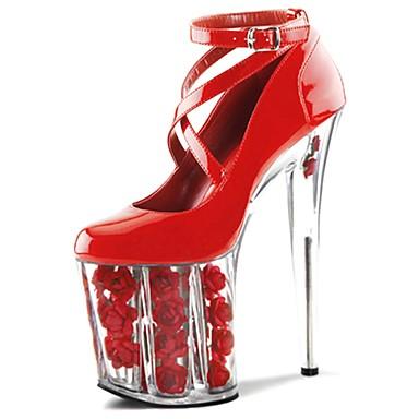 Talon 06123488 Aiguille Bout Printemps Chaussures à Chaussures Noir rond Femme Chaussures Automne Fleur Boucle Talons Polyuréthane formelles qvznaT1