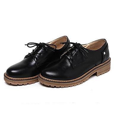 Damen Schuhe PU Sommer Komfort Sneakers Blockabsatz Für Normal Schwarz Beige Rot