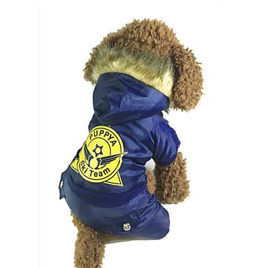 Hund Overall Hundekleidung Lässig/Alltäglich warm halten Buchstabe & Nummer Grau Rot Blau