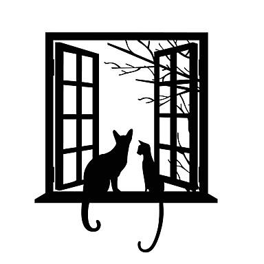 Dekoratív falmatricák - Állati falimatrica Emberek / Fantasy / Sport Hálószoba / Dolgozószoba / Iroda / Fiúszoba
