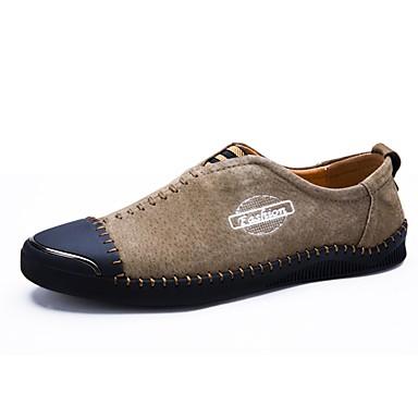 Herren Schuhe Wildleder Winter Herbst Komfort Leuchtende Sohlen formale Schuhe Tauchschuhe Loafers & Slip-Ons Für Hochzeit Normal Party &