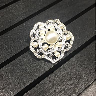 Női Melltűk - Rózsák, Virág Bross Ezüst Kompatibilitás Esküvő / Parti / Ajándék / Napi