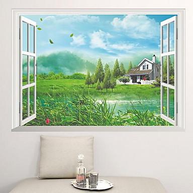 Landschaft Wand-Sticker Flugzeug-Wand Sticker Dekorative Wand Sticker Stoff Haus Dekoration Wandtattoo