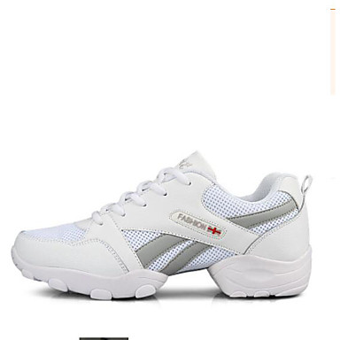 Férfi Tánccipők Tüll Teljes talpú Alacsony Dance Shoes Fehér / Fekete