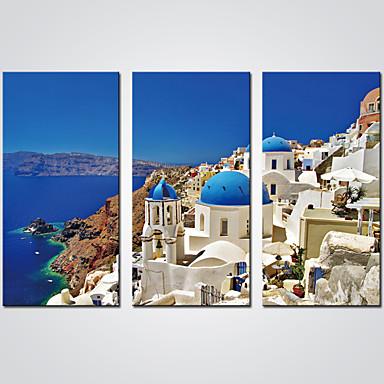 Aufgespannte Leinwandrucke Drei Paneele Segeltuch Horizontal Druck Wand Dekoration Haus Dekoration