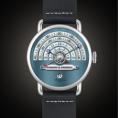 baratos Relógios Homem-Homens Relógio Esportivo Relógio Militar Relógio de Pulso Japanês Quartzo Aço Inoxidável Couro Preta / Marrom / Dourada 30 m Impermeável Calendário Criativo Analógico senhoras Amuleto Luxo Clássico