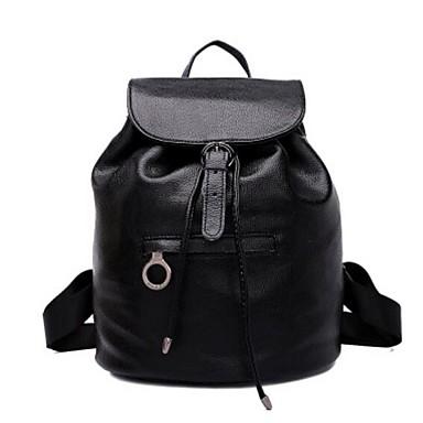 Damen Taschen Ganzjährig Kuhfell Rucksack für Normal Schwarz