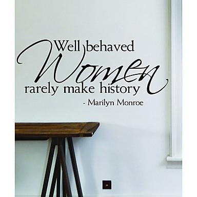لواصق حائط مزخرفة - الكلمات ونقلت ملصقات الحائط أزياء / أشكال / كلمات ومصطلحات غرفة النوم / غرفة دراسة / مكتب / متاجر / مقاهي