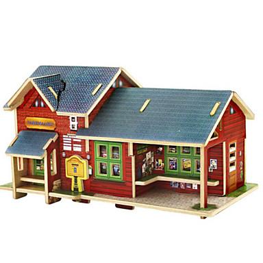 3D építőjátékok Fejtörő Ház DIY Fa Uniszex Ajándék