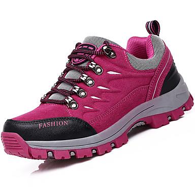Női Cipő Fordított bőr Tél Ősz Kényelmes Sportcipők Túrázó Alacsony Fűző mert Sport Szabadtéri Bíbor Rózsaszín