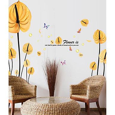 Decorative Wall Stickers - Plane Wall Stickers Botanical Living Room