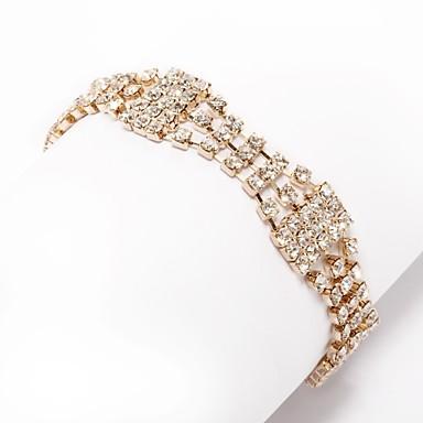 Női Lánc & láncszem karkötők - Divat Karkötők Arany Kompatibilitás Esküvő / Napi