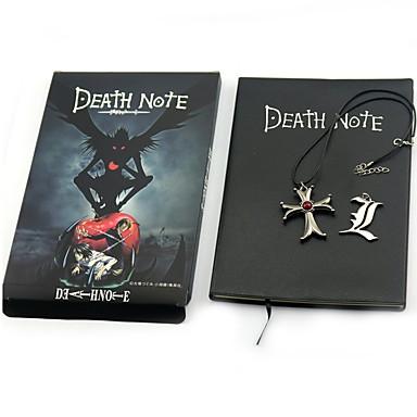 Monogramm Ihlette Death Note Yagami Raito Anime Szerepjáték Kiegészítők Még több kiegészítő Nyakláncok Fémes 100% újrahasznosított