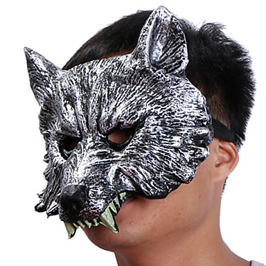 Halloween maszkok Vicces kütyü Halloween-kellékek Álarcosbál maszkok Állatmaszk Újdonság Farkasfej Étel és ital Gumi Darabok Uniszex