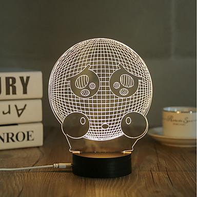 1set 3D éjszakai fény USB Dekoratív