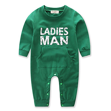 Baby Boys' Dresswear Christmas Solid Color / Other Long Sleeve Cotton Overall & Jumpsuit Green 2-3 Years(100cm) / Toddler