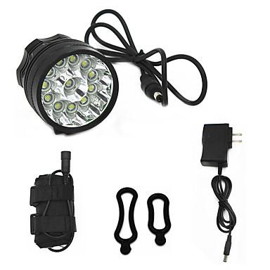 billige Lommelykter & campinglykter-ANOWL Sykkellykter 8000 lm LED Cree® XM-L T6 12 emittere 3 lys tilstand med batteri, lader og adapter Enkel å bære Sykling