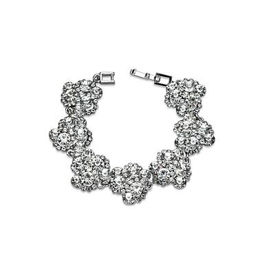 Női Szintetikus gyémánt Strassz Luxus Lánc & láncszem karkötők - Luxus Klasszikus Geometric Shape Ezüst Karkötők Kompatibilitás Parti Új