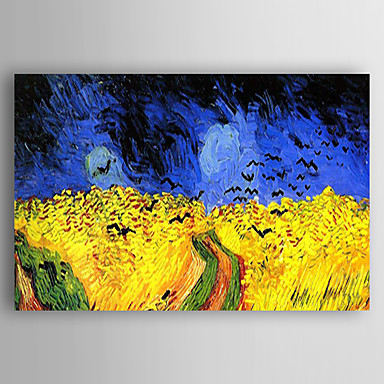 Oil Painting Hand Painted - Landscape Modern / Contemporary Canvas