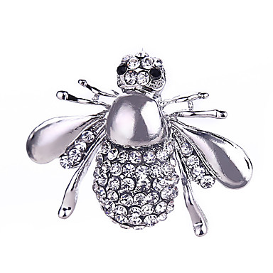 Crystal Brooches - Silver Plated, Gold Plated Bee, Animal Ladies, Classic, Fashion Brooch Jewelry Gold / Silver For Gift / Daily