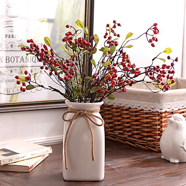 Artificial Flowers 1 Branch Pastoral Style Eternal Flower Tabletop Flower
