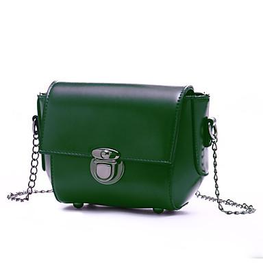 Női Táskák PU Vállon átvetős táska mert Hivatal és karrier Rubin / Világoszöld / Barna