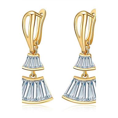Női Bohém Kocka cirkónia Kocka cirkónia Beszúrós fülbevalók - Bohém / Divat Ezüst / Vörös arany Geometric Shape Fülbevaló Kompatibilitás