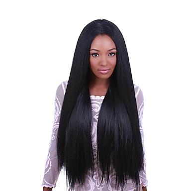 Emberi haj Csipke eleje Paróka Brazil haj Egyenes 130% Sűrűség 100% kézi csomózású Természetes hajszálvonal Rövid Közepes Hosszú Női