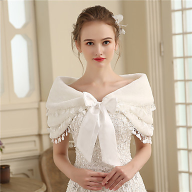 Faux Fur Wedding / Party / Evening Women's Wrap With Bowknot Capelets