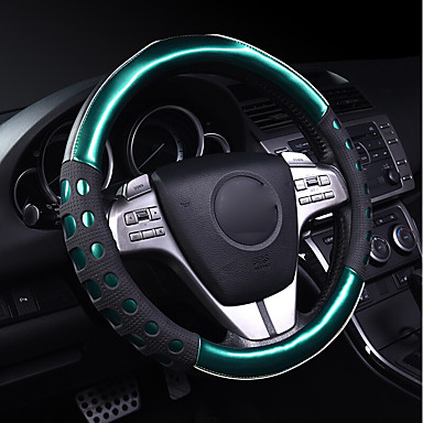 cheap Steering Wheel Covers-Steering Wheel Covers Leather / Plastic 38cm Green / Red / Purple For Nissan All Models All years