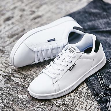 Férfi cipő Szintetikus Tél Ősz Kényelmes Tornacipők Fűző mert Hétköznapi Szabadtéri Fehér Fekete Zöld