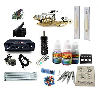 Basekey Macchina Del Tatuaggio Kit Iniziale - 1 Pcs Macchinette Per Tatuaggio Con 1 X 5 Ml Inchiostri Per Tatuaggi, Professionale Lcd #06252801
