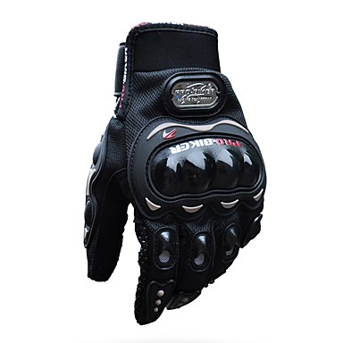 halpa Autoelektroniikka-pro-biker täysi sormi unisex moottoripyörä airsoftsports ratsastus kilpa taktiset käsineet auto moottorin suojaus pyöräily urheilukäsineet silikoni / nailonkuitu hengittävä / kevyt / iskunkestävä mcs