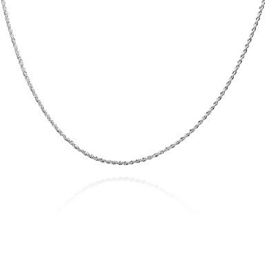 voordelige Herensieraden-Heren Dames Kettingen meetkundig Twist Circle Eenvoudig Standaard Modieus Koper Verzilverd Zilver Kettingen Sieraden Voor Dagelijks Causaal