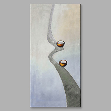Oil Painting Hand Painted - Abstract Artistic Canvas / Rolled Canvas