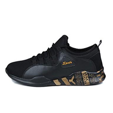 Men's Light Soles Tulle Spring / Fall Athletic Shoes Walking Shoes Black / Gold / Black / White / Black / Blue
