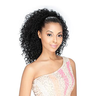 Emberi haj Csipke eleje Paróka Brazil haj Kinky Curly Tincselve 130% Sűrűség 100% kézi csomózású Afro-amerikai paróka Közepes Női Emberi