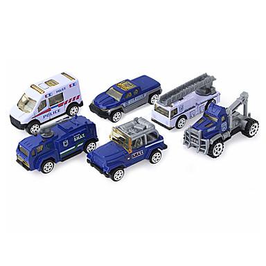Rendőrautó Toy Teherautók és építőipari járművek Játékautók 1:64 Gyermek Fiú Lány Játékok Ajándék