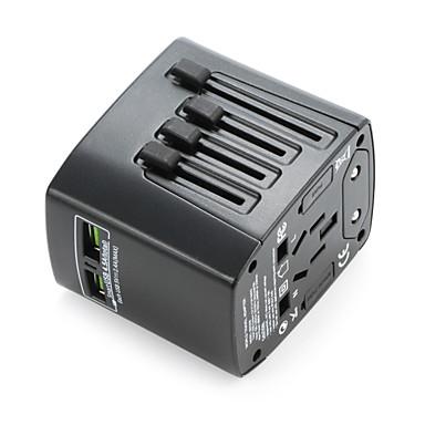 abordables Prise Connectée-Adaptateur de voyage universel waza® 4.8a 2 ports de charge USB dans le monde entier en un seul chargeur universel