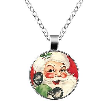 Női Nyaklánc medálok  -  Klasszikus Divat Kör Circle Shape Ezüst Nyakláncok Kompatibilitás Karácsony Estély