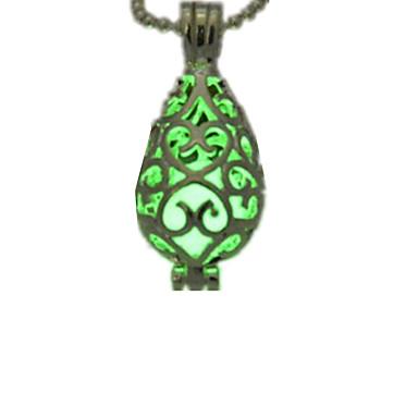 levne Světelné šperky-Dámské Světelný kámen Náhrdelníky s přívěšky Kapka dámy Přizpůsobeno Svítící Světelný kámen Slitina Světle modrá Světle zelená Náhrdelníky Šperky Pro Halloween Klub
