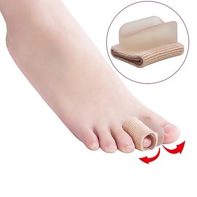 abordables Accessoires pour Chaussures-2pcs Absorption des chocs orthèses Semelle Intérieures Tissu Avant du Pied Toutes les Saisons Femme Beige