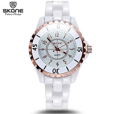 cheap Women's Watches-Men's Women's Sport Watch Military Watch Smartwatch Quartz Ceramic White Calendar / date / day Creative Cool Analog Charm Luxury Bangle Fashion Elegant - Gold Silver Two Years Battery Life