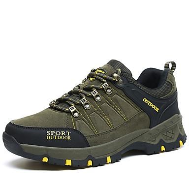 LEIBINDI Férfi Futócipők / Túracipők / Hétköznapi cipők PU / EVA Túrázás / Hegymászás / Szabadtéri Szélbiztos, Csúszásgátló, Rugalmas Lélegző háló / Műszőrme / Tüll Katonai zöld / Khakizöld