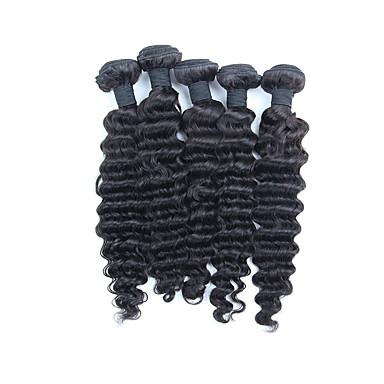 Perui haj Mély hullám Az emberi haj sző Emberi haj sző Fekete