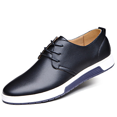 Men's Formal Shoes Leather Fall / Winter Comfort Oxfords Black / Brown / Blue / Wedding / Party & Evening