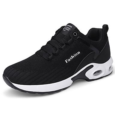 Férfi cipő Szövet Háló Tél Ősz Kényelmes Sportcipők Futócipő Fűző mert Sport Hétköznapi Fekete Sötétkék